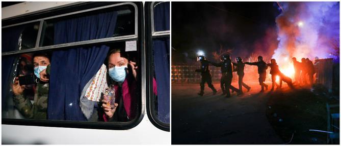 Κορονοϊός: Ουκρανοί πέταγαν πέτρες σε λεωφορείο με άτομα που επέστρεψαν από την Ουχάν (εικόνες)