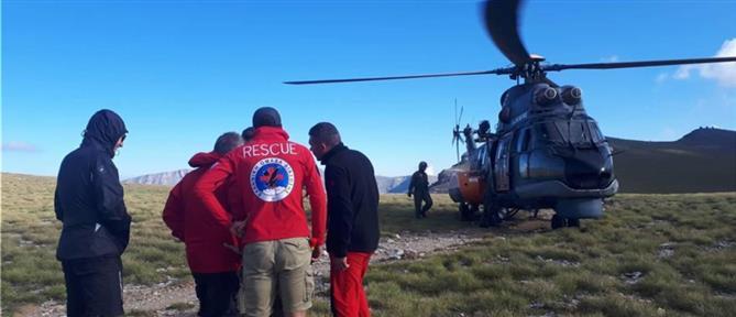 Επιχείρηση διάσωσης ορειβάτη στον Όλυμπο