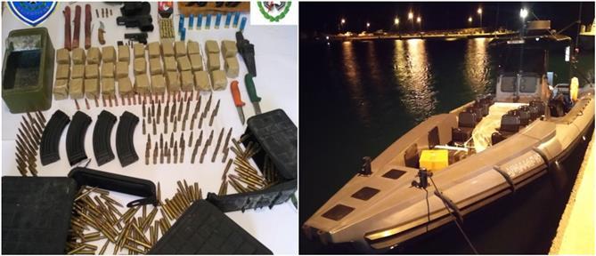 """""""Ρεσάλτο"""" του Λιμενικού σε σκάφος με όπλα και σφαίρες (εικόνες)"""
