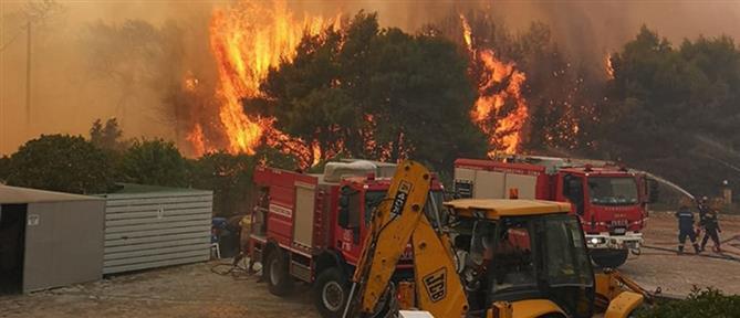 Μεγάλη φωτιά στην Ζάκυνθο (εικόνες)