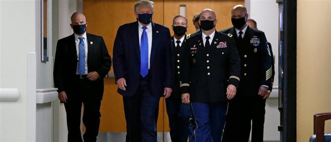 Ο Ντόναλντ Τραμπ με μάσκα για πρώτη φορά (εικόνες)