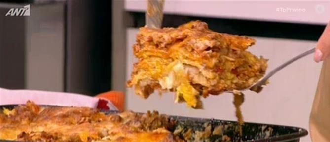 Λαζάνια με κιμά και μπεσαμέλ & τυρόπιτα – καρμπονάρα από τον Βασίλη Καλλίδη