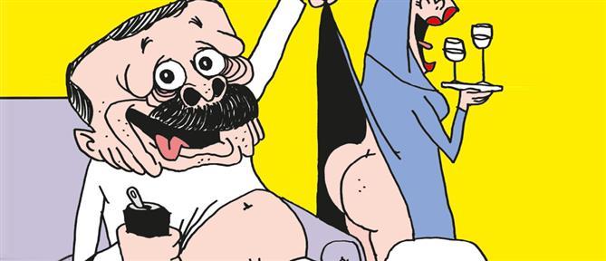 Charlie Hebdo: Οργή στην Τουρκία για το σκίτσο με τον ημίγυμνο Ερντογάν (εικόνες)