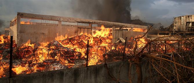 Ασπρόπυργος: Φωτιά σε εργοστάσιο ξυλείας (βίντεο)