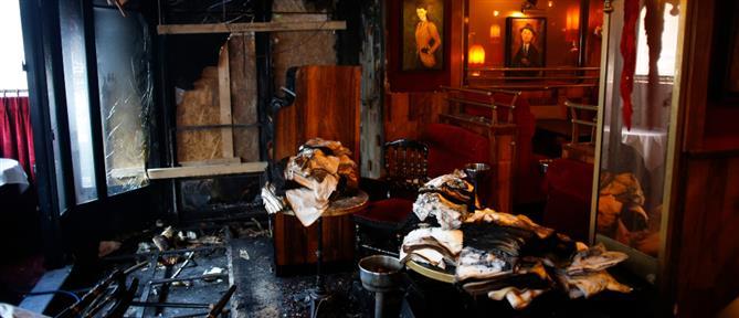 Κάηκε το εστιατόριο – στέκι του Μακρόν (εικόνες)