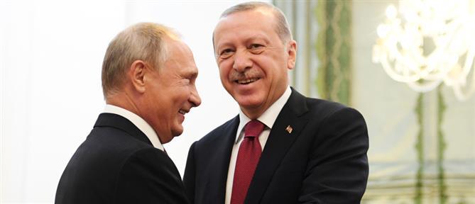 """""""Πλάτη"""" Πούτιν στον Ερντογάν κατά των κυρώσεων από την ΕΕ"""