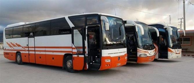 Λεωφορεία των ΚΤΕΛ ενισχύουν τις συγκοινωνίες της Αθήνας