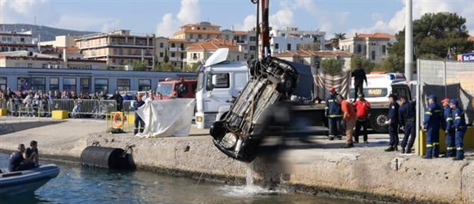 """Αυτοκίνητο """"βούτηξε"""" στο λιμάνι της Μυτιλήνης – Νεκρός ο οδηγός (βίντεο)"""