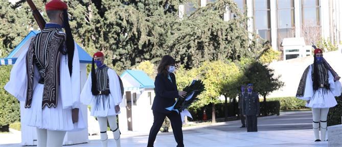 Σακελλαροπούλου: Ο αγώνας των Ενόπλων Δυνάμεων αξίζει τον σεβασμό όλων