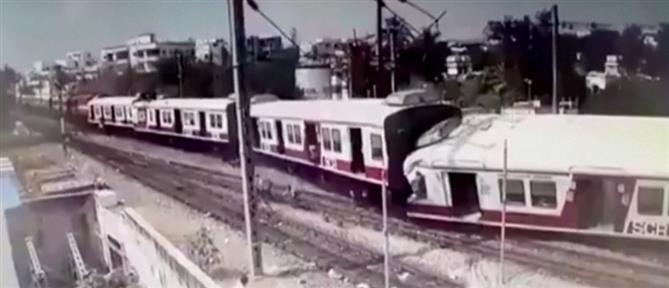 Βίντεο: η στιγμή μετωπικής σύγκρουσης τρένων