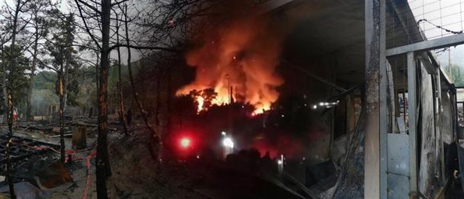 Σάμος: εικόνες απόλυτης καταστροφής μετά τη φωτιά στο ΚΥΤ