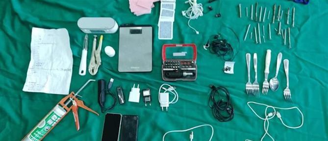 Φυλακές Κορυδαλλού: χάπια, κινητά, κατσαβίδια και τράπουλες (εικόνες)