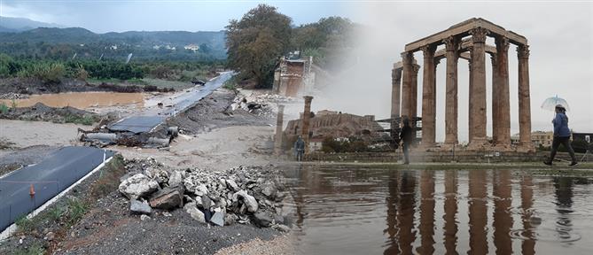 """Κακοκαιρία """"Βικτώρια"""": αποτιμούν τις ζημιές τους οι πληγείσες περιοχές (εικόνες)"""