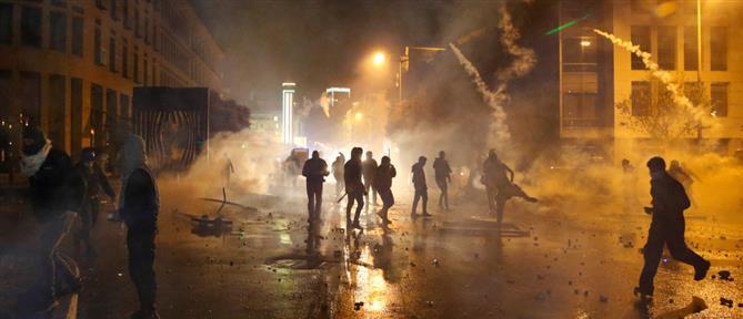 Βυθισμένη στο χάος των διαδηλώσεων η Βηρυτός (εικόνες)