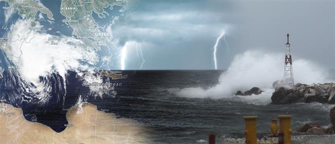 """Κακοκαιρία """"Ιανός"""": Ο μεσογειακός κυκλώνας σφυροκοπά την χώρα (βίντεο)"""
