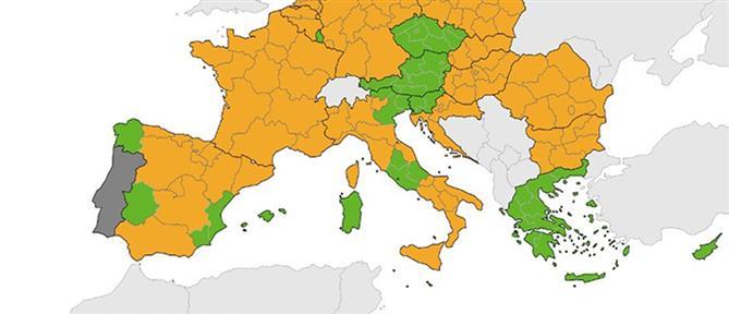 """Κορονοϊός - Χάρτης ECDC: """"Πράσινη"""" η Ελλάδα και πρωτιά στα τεστ (εικόνες)"""