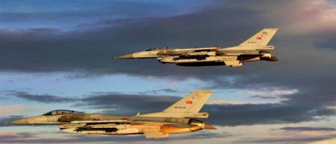 Υπερπτήσεις στο μισό Αιγαίο από τουρκικά μαχητικά