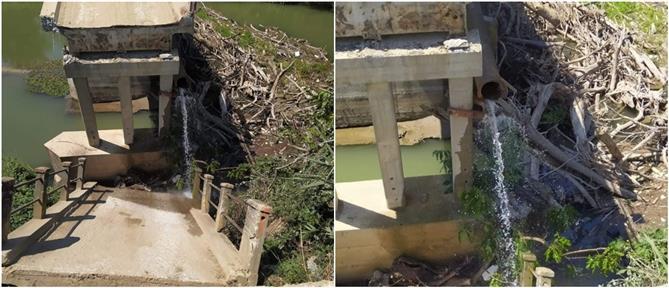 Κατάρρευση γέφυρας στις Σέρρες (εικόνες)