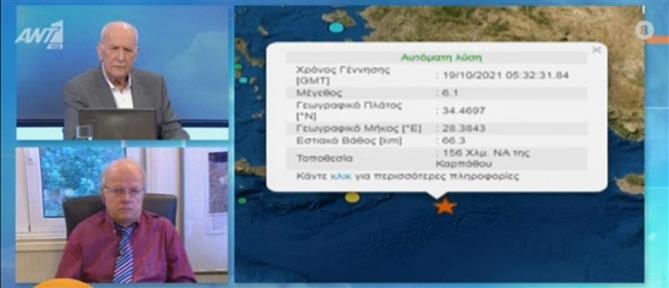 Σεισμός στην Κάρπαθο: καθησυχαστικοί οι σεισμολόγοι