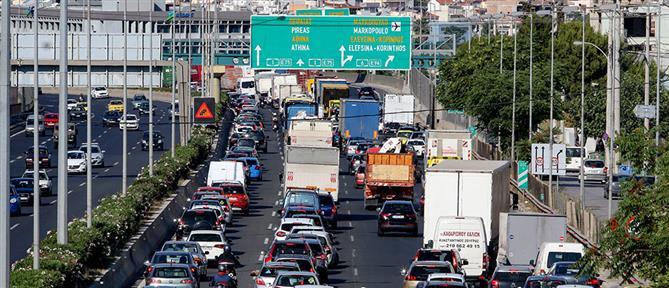 Κυκλοφοριακό χάος στους δρόμους της Αθήνας