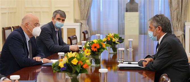 Συνάντηση Δένδια με τον Παλαιστίνιο πρέσβη