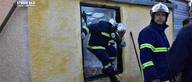 Φωτιά σε θερμοκήπιο στο Ναύπλιο (εικόνες)