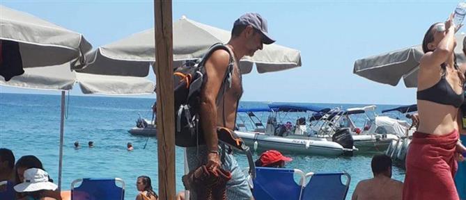 Στιγμές χαλάρωσης για τον Κυριάκο Μητσοτάκη στην Κρήτη (εικόνες)