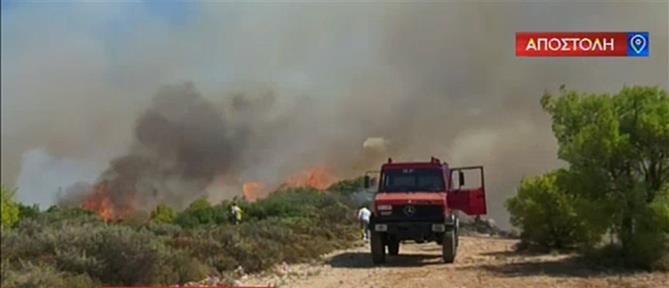 """Ο ΑΝΤ1 στην Ζάκυνθο: συγκλονίζουν οι μαρτυρίες και η """"μάχη"""" για την μεγάλη φωτιά (βίντεο)"""