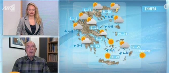 Ο καιρός σήμερα από τον Τάσο Αρνιακό (βίντεο)