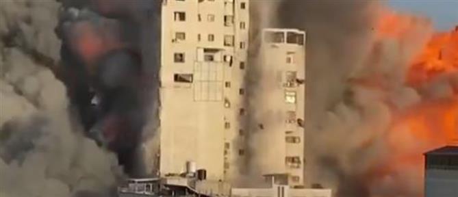 Γάζα: Κτήριο 14 ορόφων καταρρέει μετά από ισραηλινό βομβαρδισμό (βίντεο)