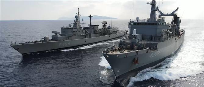 Πολεμικό Ναυτικό: Ασκήσεις με πραγματικά πυρά (εικόνες)