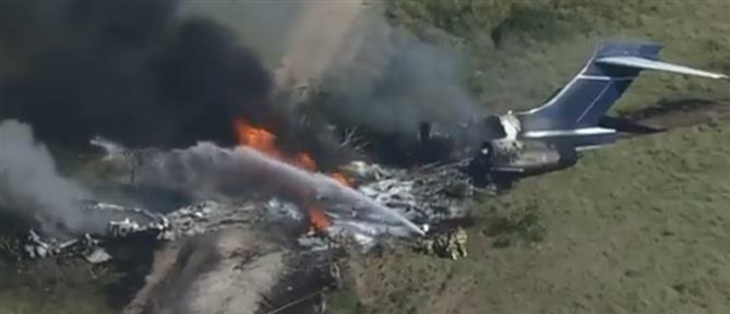Τέξας: Αεροσκάφος κατέπεσε κατά την απογείωση (εικόνες)
