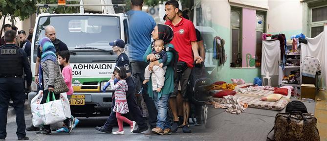 Βίντεο: Η επιχείρηση εκκένωσης δυο υπό κατάληψη κτηρίων στην Αχαρνών