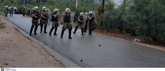 Μαλακάσα: Χημικά και τραυματισμοί στην διαμαρτυρία κατά των δομών