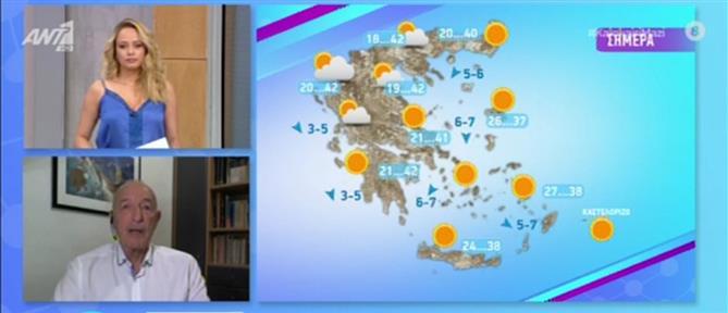 Καύσωνας - Αρνιακός: Έως και 43 βαθμούς Κελσίου η θερμοκρασία την Πέμπτη (βίντεο)