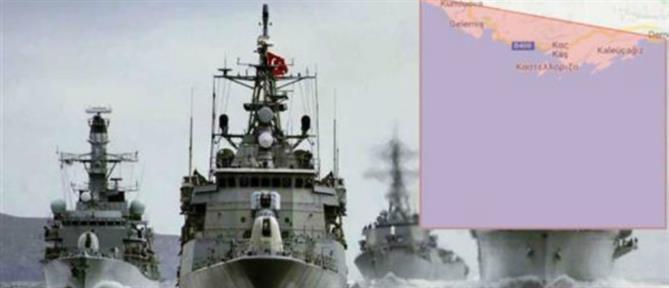 """Οι Τούρκοι """"χωρίζουν"""" τη Ρόδο από το Καστελόριζο"""