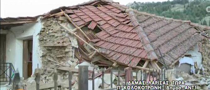 """Σεισμός στην Ελασσόνα: """"Βομβαρδισμένη"""" περιοχή το Δαμάσι (βίντεο)"""