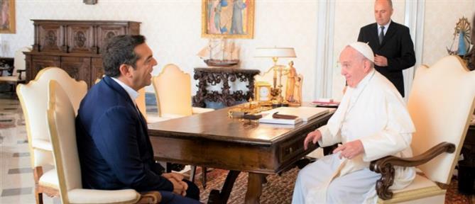 Με τον Πάπα Φραγκίσκο συναντήθηκε ο Αλέξης Τσίπρας (εικόνες)