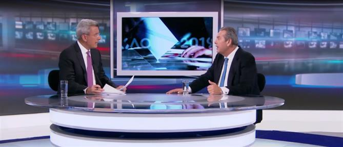 Καμμένος στον ΑΝΤ1: η χώρα έχει ανάγκη από μια Κυβέρνηση Εθνικής Ενότητας