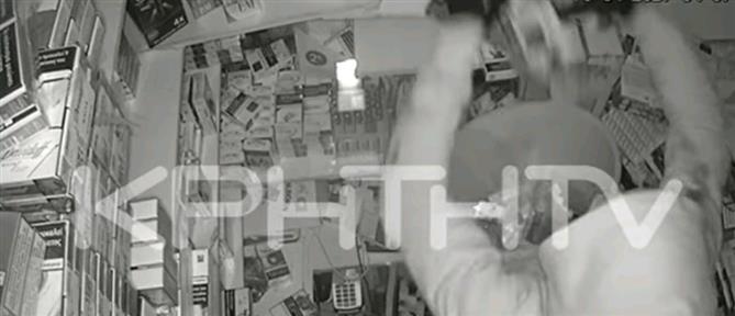 Ηράκλειο: έκαναν διάρρηξη επί 4 ώρες σε περίπτερο! (βίντεο)