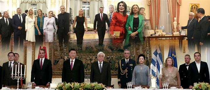 Δείπνο στο Προεδρικό: Λαβράκι, ούζο και… χαμόγελα (εικόνες)
