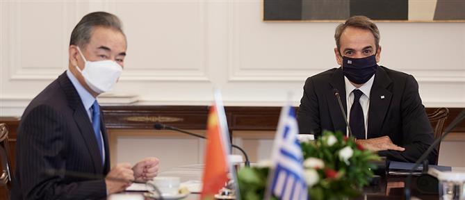 Μητσοτάκης - Γουάνγκ Γι: Στην ατζέντα η ενίσχυση της συνεργασίας Ελλάδας - Κίνας