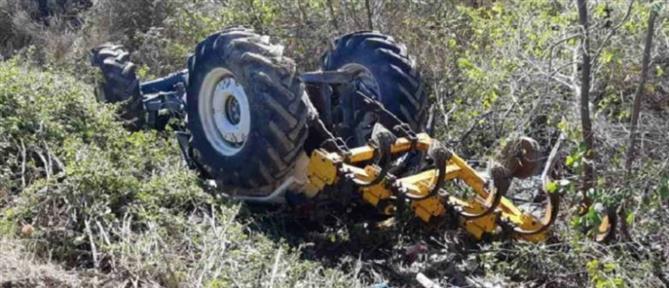 Χανιά: νεκρός αγρότης που παρασύρθηκε από το τρακτέρ του