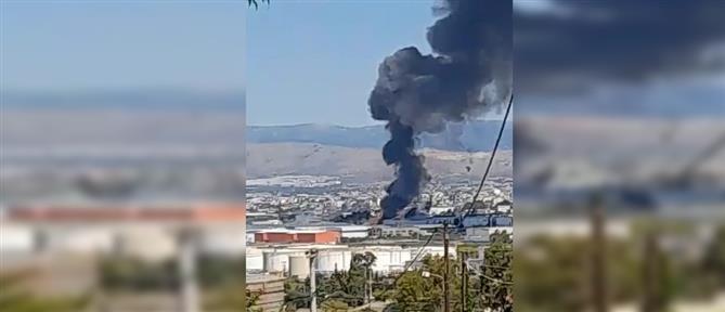 Ασπρόπυργος: Φωτιά σε βυτιοφόρο σήμανε συναγερμό