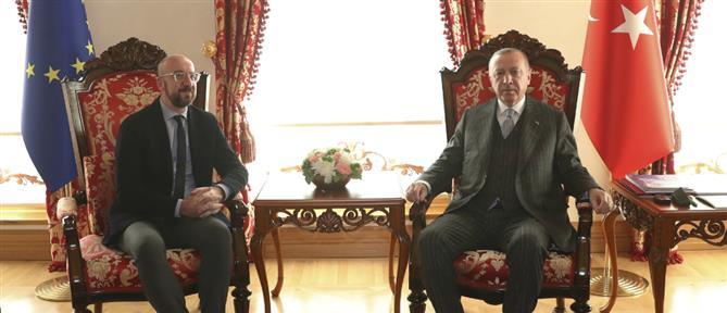 Επικοινωνία Σαρλ Μισέλ - Ερντογάν με φόντο τις προκλήσεις