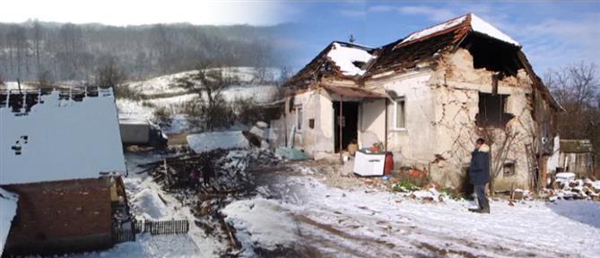 Χιόνια στη ρημαγμένη από το σεισμό Κροατία (εικόνες)