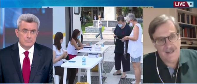 """Παναγιωτόπουλος στον ΑΝΤ1: ηχηρό """"καμπανάκι"""" τα αυξημένα κρούσματα (βίντεο)"""