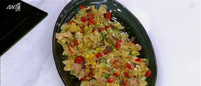 Συνταγή για φαρφάλες με τόνο από τον Πέτρο Συρίγο